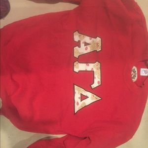 Sweaters - Alpha Gamma Delta Sorority Large love letters L